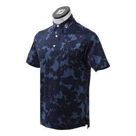 フットジョイ FootJoy メンズ ボタニカルカモフラージュ ライルシャツ(Lサイズ/ネイビー) FJ-S21-S06