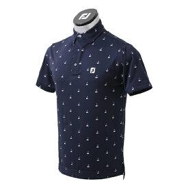 フットジョイ FootJoy メンズ ゴルフプリント ライルシャツ(Mサイズ/ネイビー) FJ-S21-S04