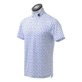 フットジョイ FootJoy メンズ フラワープリント ライルシャツ(Lサイズ/ラグーンブルー) FJ-S21-S07
