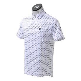 フットジョイ FootJoy メンズ タイプリントライルシャツ(Lサイズ/ホワイト) FJ-S21-S02
