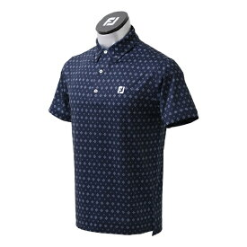 フットジョイ FootJoy メンズ タイプリントライルシャツ(XLサイズ/ネイビー) FJ-S21-S02