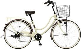MARUKIN マルキン 26型 自転車 RYフロートミックス266-C(ベージュ/外装6段変速《適応身長:144cm〜》) MK-21-035【2021年モデル】【組立商品につき返品不可】 【代金引換配送不可】