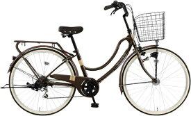 MARUKIN マルキン 26型 自転車 RYフロートミックス266-C(ダークブラウン/外装6段変速《適応身長:144cm〜》) MK-21-035【2021年モデル】【組立商品につき返品不可】 【代金引換配送不可】
