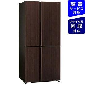 AQUA アクア 冷蔵庫 ダークウッドブラウン AQR-TZ51K-T [4ドア /観音開きタイプ /512L]《基本設置料金セット》