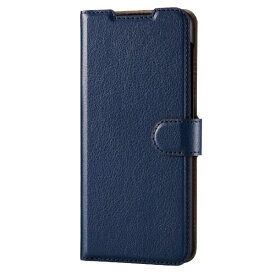 エレコム ELECOM Galaxy A32 5G レザーケース 手帳型 UltraSlim 薄型 磁石付き ステッチ ネイビー PM-G208PLFU2NV