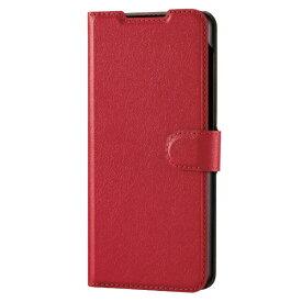 エレコム ELECOM Galaxy A32 5G レザーケース 手帳型 UltraSlim 薄型 磁石付き ステッチ レッド PM-G208PLFU2RD