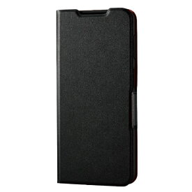 エレコム ELECOM Galaxy A32 5G レザーケース 手帳型 UltraSlim 薄型 磁石付き ブラック PM-G208PLFUBK