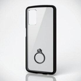 エレコム ELECOM Galaxy A32 5G ハイブリッドケース TOUGH SLIM LITE フレームカラー リング付き ブラック PM-G208TSLFCRBK