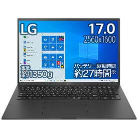LG 17Z90P-KA78J1 ノートパソコン gram オブシディアンブラック [17.0型 /intel Core i7 /SSD:1TB /メモリ:16GB /2021年2月モデル]