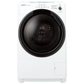 シャープ SHARP ドラム式洗濯乾燥機 ホワイト系 ES-S7F-WL [洗濯7.0kg /乾燥3.5kg /ヒーター乾燥 /左開き][ドラム式 洗濯機 7kg]