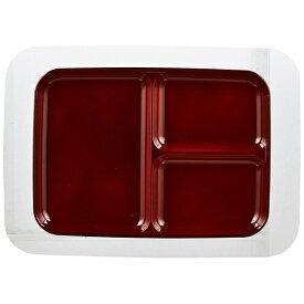 パール金属 PEARL METAL 漆器彩 クリーンコート角型仕切皿<大> 赤溜 赤溜 K-6133