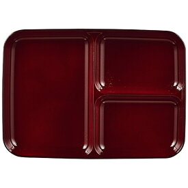 パール金属 PEARL METAL 漆器彩 クリーンコート角型仕切皿<小> 赤溜 赤溜 K-6134