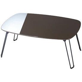 パール金属 PEARL METAL PUテーブル 70×50 ダークブラウン N-7778