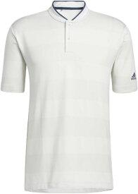 アディダス adidas メンズ PRIMEKNIT 半袖スタンドカラーシャツ(Mサイズ/ホワイト×グレーワン) 27491