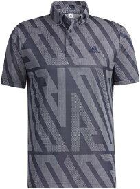 アディダス adidas メンズ ADIDASジャカード 半袖ボタンダウンシャツ(Lサイズ/カレッジネイビー) 23281