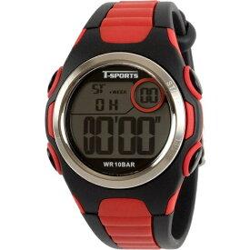 クレファー CREPHA デジタル腕時計 レッド TS-D113-RD