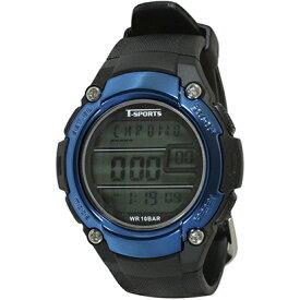 クレファー CREPHA デジタル腕時計 ブルー TS-D2059-BL