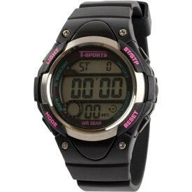 クレファー CREPHA デジタル腕時計 ブラック TS-D131-BK