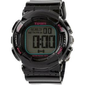 クレファー CREPHA デジタル腕時計 ブラック TS-D132-BK