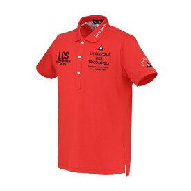 ルコック le coq メンズ 半袖ポロシャツ(LLサイズ/レッド) QGMRJA05