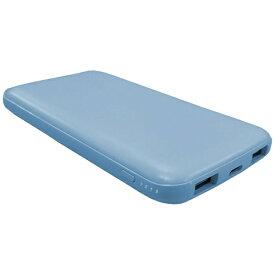 LAZOS ラソス Type-Cポート搭載 QC/PD対応 10000mAh 高速充電リチウムポリマーモバイルバッテリー ライトブルー L-10M-BL [10000mAh /3ポート /USB Power Delivery対応 /マルチタイプ /充電タイプ]