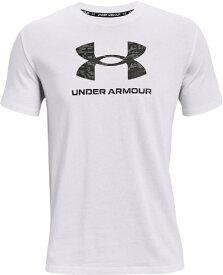 アンダーアーマー UNDER ARMOUR メンズ UAカモ ビッグロゴ ショートスリーブ(XLサイズ/ホワイト×ブラック) 1365199