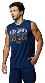 アンダーアーマー UNDER ARMOUR メンズ UAテック スリーブレス グラフィック(XLサイズ/アカデミー×ゴールド) 1364590