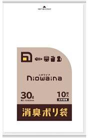 日本サニパック SANIPAK ニオワイナ消臭袋 LLDPE 白半透明 30L 10P 0.025mm