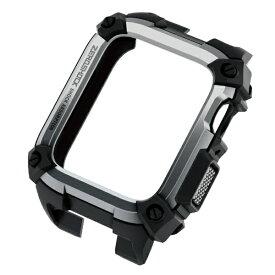 エレコム ELECOM Apple Watch 44mm ケース ZEROSHOCK シルバー AW-44CSZEROSV