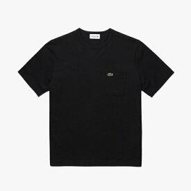 ラコステ LACOSTE メンズ レギュラーフィット クロコエンブレムクルーネックポケットTシャツ(003:Sサイズ/ブラック) TH5846L