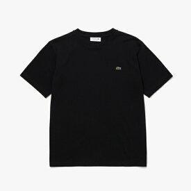 ラコステ LACOSTE メンズ 鹿の子クルーネックTシャツ(005:Lサイズ/ブラック) TH635EN