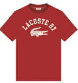 ラコステ LACOSTE メンズ カレッジロゴクルーネックTシャツ(004:Mサイズ/レッド) TH0061L