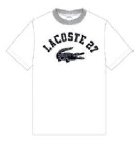 ラコステ LACOSTE メンズ カレッジロゴクルーネックTシャツ(003:Sサイズ/ホワイト) TH0061L