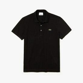 ラコステ LACOSTE メンズ スリムフィットソリッドポロシャツ(005:Lサイズ/ブラック) PH7937L