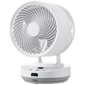 ヤマゼン YAMAZEN 18cm サーキュレーター扇風機 26畳 熱中症アラート機能搭載 上下左右自動首振り リモコン式 お手入れ簡単工具不要 ガード取り外し可能 ホワイト YKAR-WEAD18-W [DCモーター搭載 /リモコン付き]