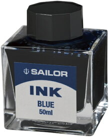 セーラー萬年筆 THE SAILOR PEN 万年筆用ボトルインク染料50mlブルー 131007240