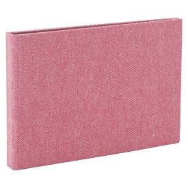 ナカバヤシ Nakabayashi コット 黒台紙フォトアルバム L判横向き24枚 ピンク