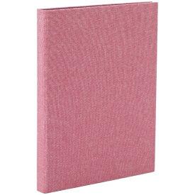 ナカバヤシ Nakabayashi コット 黒台紙フォトアルバム 2L縦向き24枚 ピンク