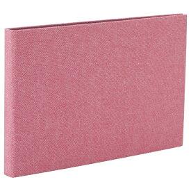 ナカバヤシ Nakabayashi コット 黒台紙フォトアルバム 2L判横向き24枚 ピンク