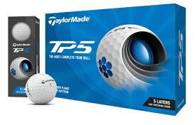テーラーメイドゴルフ Taylor Made Golf ゴルフボール New TP5 ボール《1スリーブ(3球)/ホワイト》