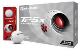 テーラーメイドゴルフ Taylor Made Golf ゴルフボール New TP5x ボール《1スリーブ(3球)/ホワイト》