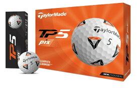 テーラーメイドゴルフ Taylor Made Golf ゴルフボール New TP5 pix ボール《1スリーブ(3球)/ホワイト》