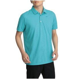 ミズノ mizuno メンズ ポロシャツ ドライエアロフロー半袖台衿シャツ(XLサイズ/Sブルー)52MA101225