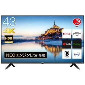 ハイセンス Hisense 液晶テレビ 43A6G [43V型 /4K対応 /BS・CS 4Kチューナー内蔵 /YouTube対応][テレビ 43型 43インチ]