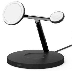 BELKIN ベルキン MagSafe急速充電対応 iPhoneapple watch AirPods 同時充電可能 3in1 ワイヤレス充電器 WIZ009dqBK ブラック ブラック WIZ009DQBK