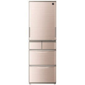 シャープ SHARP 冷蔵庫 シャインブラウン系 SJ-X414H-T [5ドア /左右開きタイプ /412L]《基本設置料金セット》