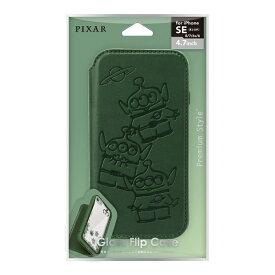 PGA iPhone SE/8/7/6s/6用ガラスフリップケース [エイリアン] PG-DGF20M02LGM エイリアン