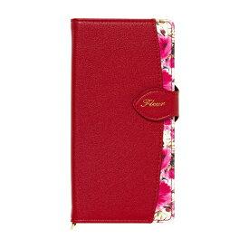 ナチュラルデザイン NATURAL design iPhone 12/12 Pro 6.1インチ対応手帳型ケース Fleur Wine Red