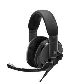 EPOS イ−ポス 1000888 ゲーミングヘッドセット H3 ブラック [φ3.5mmミニプラグ /両耳 /ヘッドバンドタイプ]