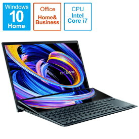 ASUS エイスース UX482EG-KA143TS ノートパソコン ZenBook Duo 14(2画面 タッチパネル) セレスティアルブルー [14.0型 /intel Core i7 /SSD:1TB /メモリ:16GB /2021年4月モデル]【point_rb】